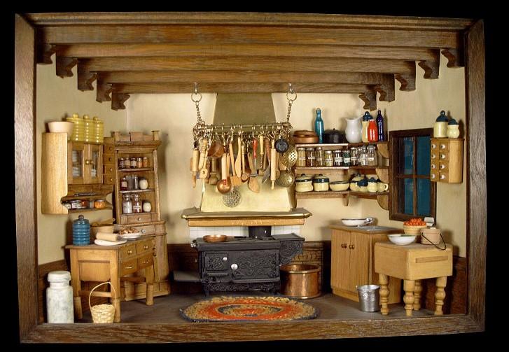 Mini Kitchen Room Box: Room Box Number 8