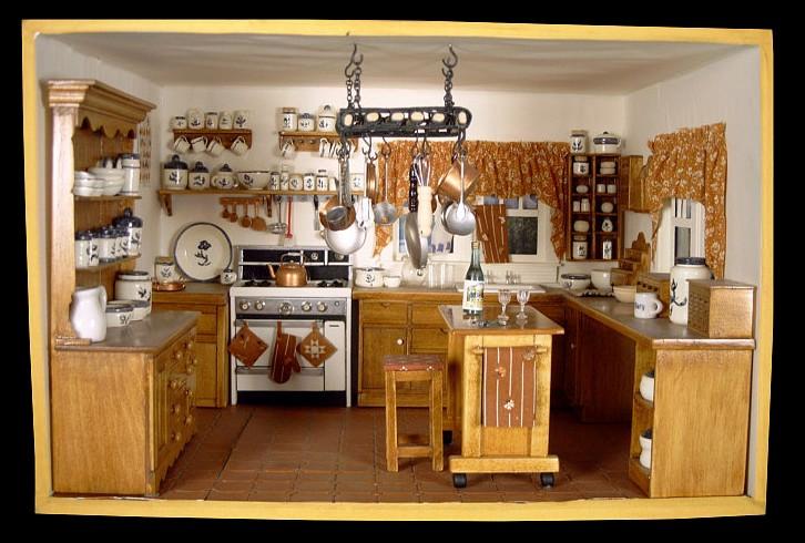 Mini Kitchen Room Box: Room Box Number 11